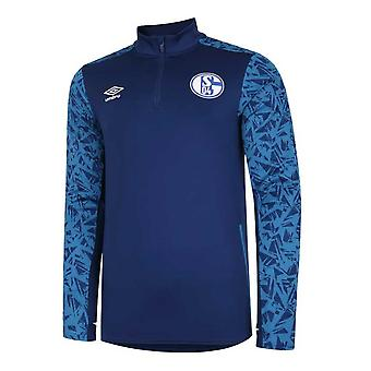 2020-2021 Schalke Half Zip Training Top (Azul)
