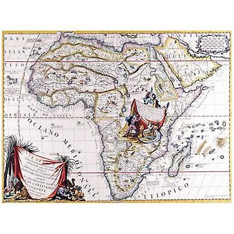 Print on canvas - Ancient Map No. 6