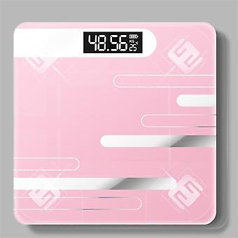 Smart Glass Electronic Usb Charging Lcd Display Ce Digital Body Weight Scale