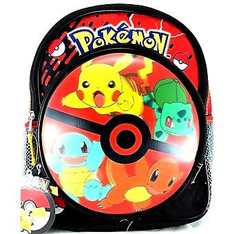 Small Backpack - Pokemon - Pikachu & Friends 3D Red 12