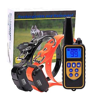Electric Dog Training Collar Pet Remote Control Waterproof Rechargeable with LCD Display for All Size Bark Collars