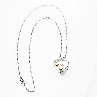 Keepsake Heart Pendant Titanium Steel Openable Locket Pet Urn