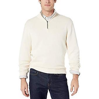 Marke - Goodthreads Men's Weiche Baumwolle Viertel Zip Pullover, Vintage Whi...