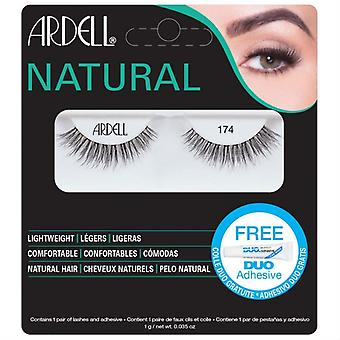 Ardell Natural Lightweight False Eyelashes - 174 Black - Duo Adhesive Included