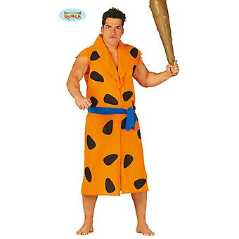 Costume homme des cavernes dessinée pour hommes âgés de fête sur le thème Pierre Neanderthal Carnaval