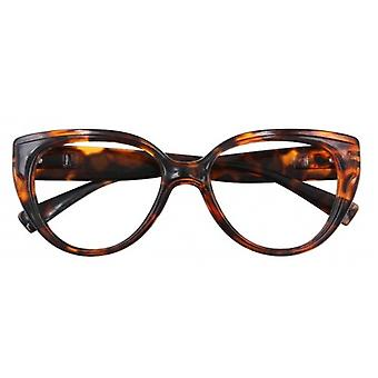 Reading glasses Women's Butterfly multifocal brown strength +1.50