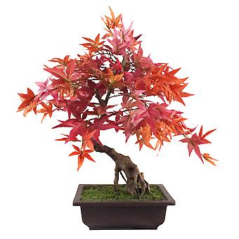 50cm Artificial Red Maple Bonsai Tree