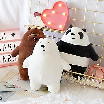 Anime Cartoon Three Bare Bears Very Soft Plush Doll - Cute Standing Panda