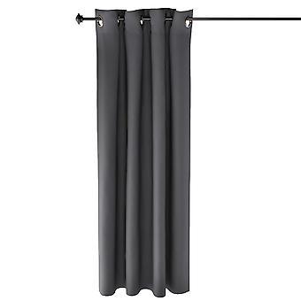 Furinno Collins Blackout Vorhang 52X63 In. 1 Panel, Dunkelgrau