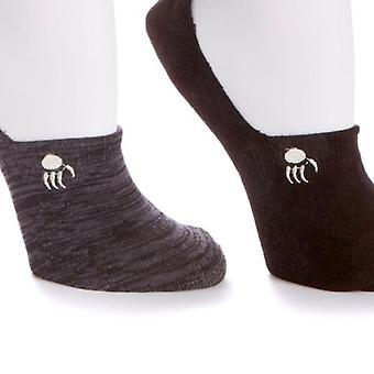 Bearpaw One Shark mouth Liners w/ Silicone Strip At The Heel Socks 571-845