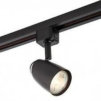 1 Light Track Head Light Only Matt Black, Chrome Plate, GU10