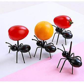 6/12pcs Set Fruit Fork Reusable - Ant Fruit Fork Tableware Having Multiple Use