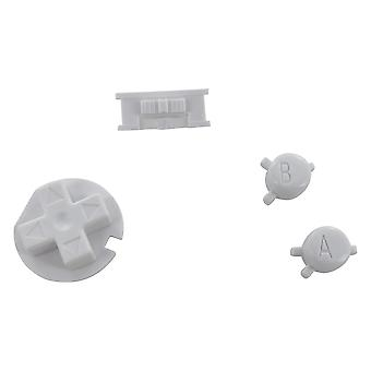 Replacement button set a b d-pad power switch mod for nintendo game boy color - white | zedlabz
