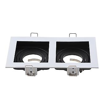 Commercial Zinc Alloy Square Adjustable Recessed Spotlights Light Fixture Frame