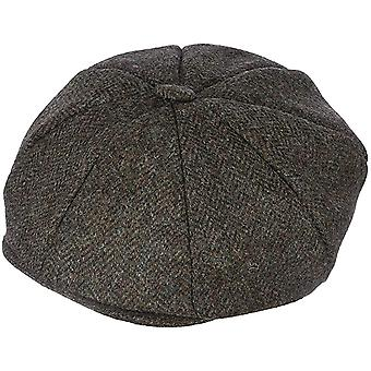 Pewter Herringbone Abraham Moon 8-Piece Tweed Cap