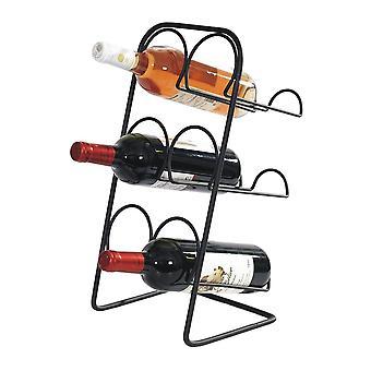 Stojan na víno Čierne kovanie 6 fliaš