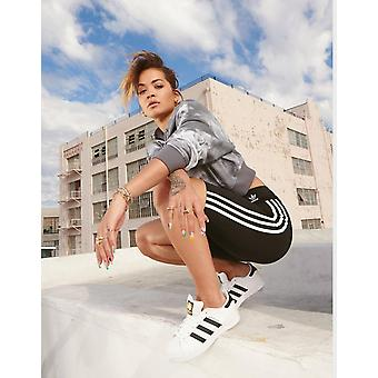 New adidas Originals Women's 3-Stripes High Waisted Cycle Shorts Black/White