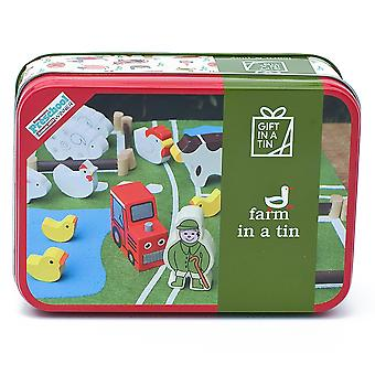 Farm In A Tin - Children's Play Set - Luxury Gift Item