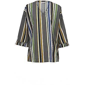 Masai Clothing Barka Green Striped Top