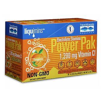 Trace Minerals Elektrolyt Uthållighet Power Pack Tangerine, Tangerine 1 Paket