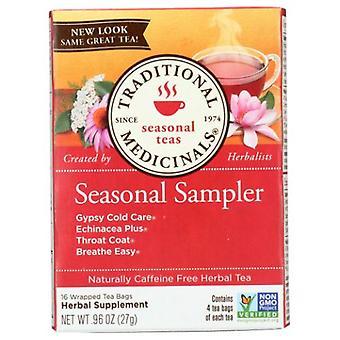 Traditional Medicinals Teas Seasonal Sampler Teas, 16 Bags
