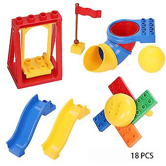 Blocks Child Animal Toy, Simulation Model Big Size Building Block Accessories-