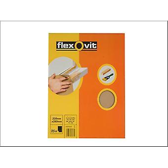 Folhas de papel de vidro Flexovit Grau OO/240 63642558231