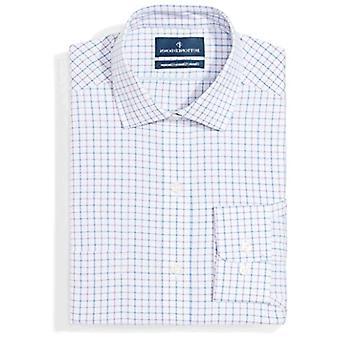 BUTTONED DOWN Männer's klassische Fit Spread-Collar Muster Nicht-Eisen Kleid Shirt, G...