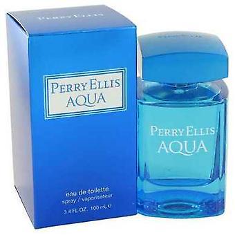 Perry Ellis Aqua By Perry Ellis Eau De Toilette Spray 3.4 Oz (men) V728-497202