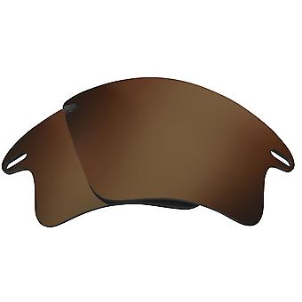 Replacement Lenses for Oakley Fast Jacket XL Sunglasses Anti-Scratch Dark Brown