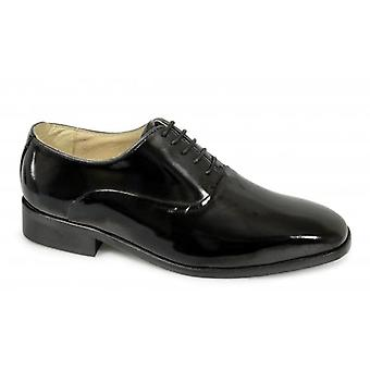 Montecatini Mens Patent Leather Evening Oxford Shoes Black