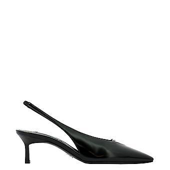 Prada 1i517m055f0002 Mulheres'sandálias de couro preto
