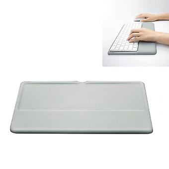 Wireless Keyboard Support Memory Foam Silicone Wrist Pad Base for Apple Magic Keyboard 2, Size:L(Grey)