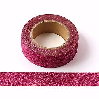 Nastro decorativo Fucsia Pink Glitter Washi Tape 15mm x 5m