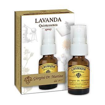 LAVENDER QUINTESSENZA 15ML SPR 15 ml of essential oil