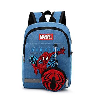 Kindergarten Lovely Backpack+purse Coin Bag Spiderman/car Bag