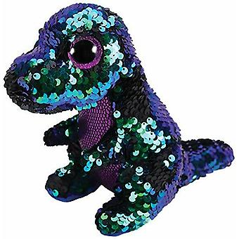 Ty - Flippables - Crunch The Dinosaur Sequin Soft Toy