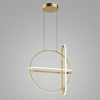 Moderno LED Hanging Pendente Dourado, Branco Quente 3000K 2000lm Dimmable