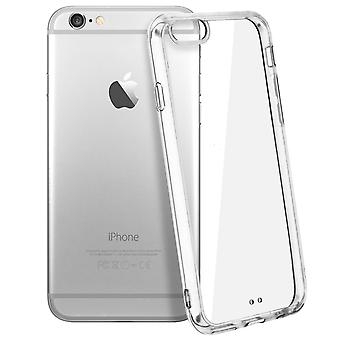 Tough rear clear case + shock absorbing silicone bumper for Apple iPhone 6 /6S