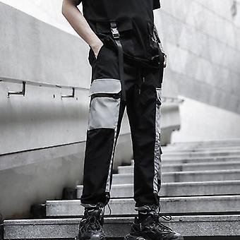 Bărbați Multi-pocket Elastic Talie Harem Punk Hip Hop Casual Pantaloni Joggers Pantaloni
