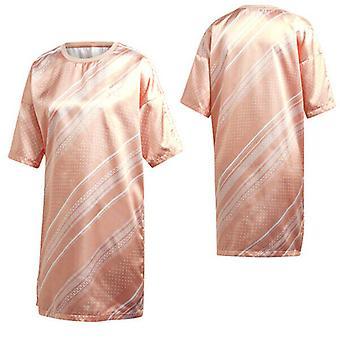 Adidas Originals Kvinders Trefoil T-Shirt Kjole Casual Summer Top Rose DV2640