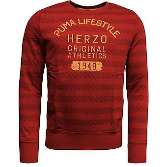 Puma ILP Męskie paski Crew Neck Bluza sweter sweter czerwony 560288 03 R10K