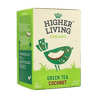 الشاي الأخضر مع جوز الهند العضوي 20 وحدة من 40g