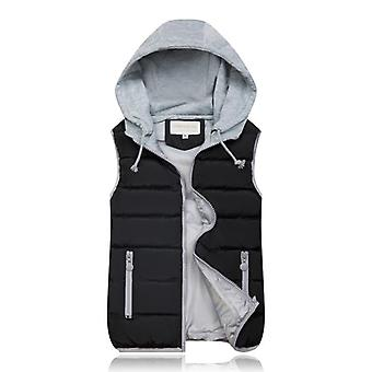 Winter Coat Women Hooded Warm Vest, Plus Size Cotton Jacket For Female