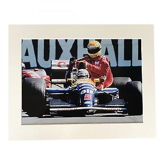 Larrini Mansells Taxi Silverstone A4 Mounted Photo