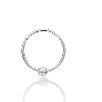 925 Sterling Silver Trendy Helix Cartilage Tragus Nose Ring Piercing Jewelry