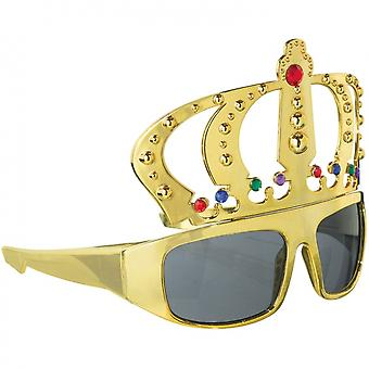 Party Goggles Crown Gold Unisex