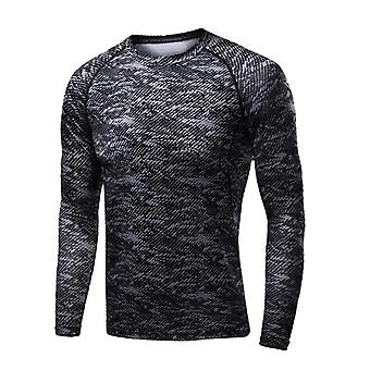 Men Compresie Running T Shirt Fitness Tight Long Sleeve Sport T-shirt