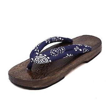Summer- Anime Cosplay Costumes, Flat Wooden Clogs, Flip-flops Slippers