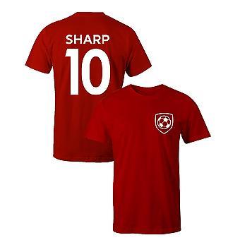 بيلي شارب 10 شيفيلد يونايتد ستايل لاعب كرة القدم تي شيرت